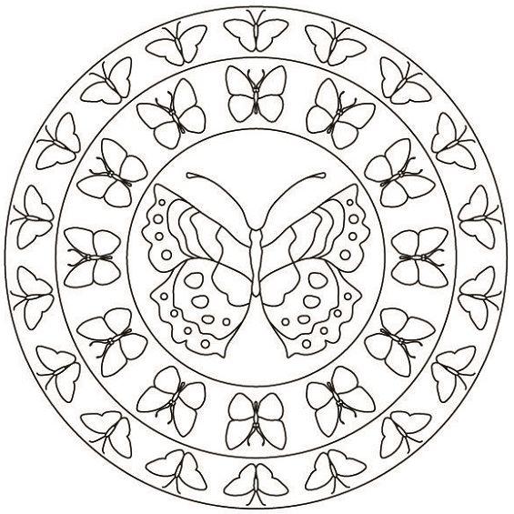 mandala de mariposas para colorear