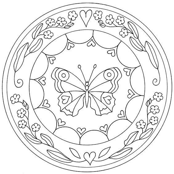 mandala de mariposas para imprimir