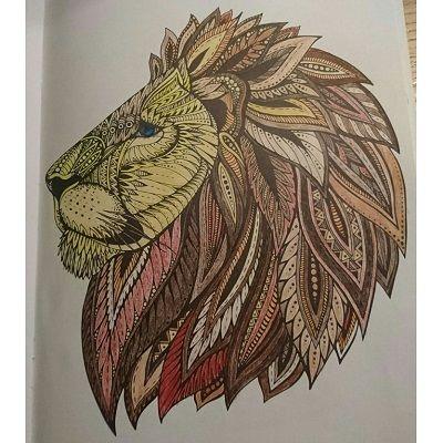 mandala de un leon a color