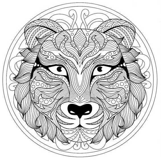 mandala de un tigre
