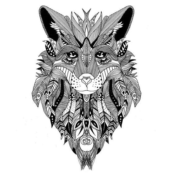 mandala de un zorro