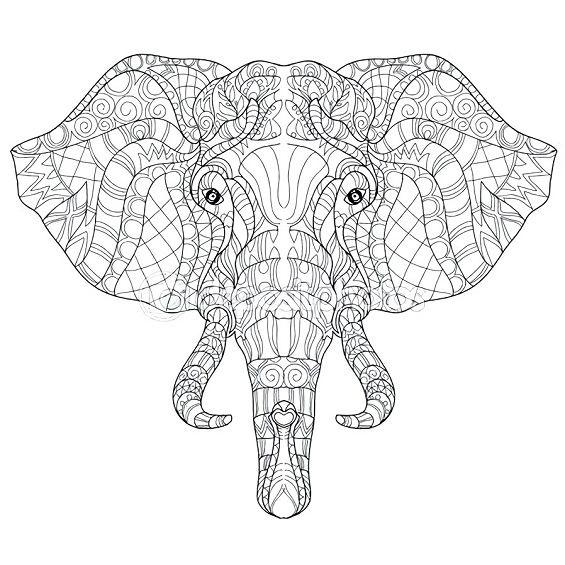 mandala elefante para imprimir