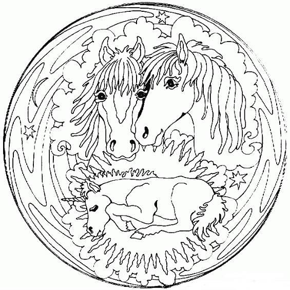 mandalas con dos caballos