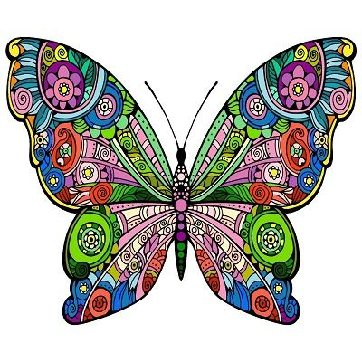 mandalas con mariposas coloreadas