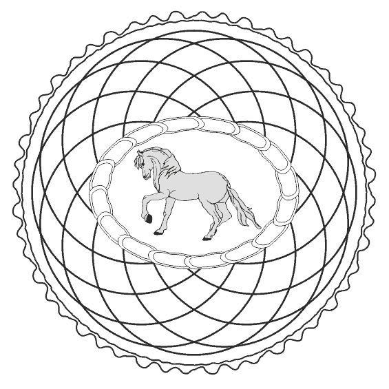 mandalas de caballos para niños