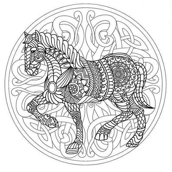 mandalas de caballos para pintar