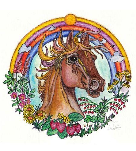 mandalas de caballos pintados