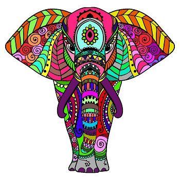 mandalas de elefantes a color