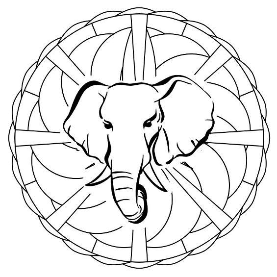 mandalas de elefantes faciles para imprimir