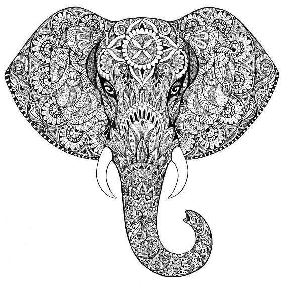 mandalas de elefantes para imprimir