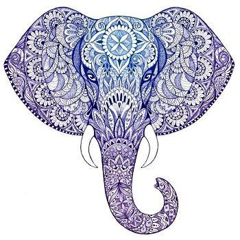 mandalas de elefantes pintados