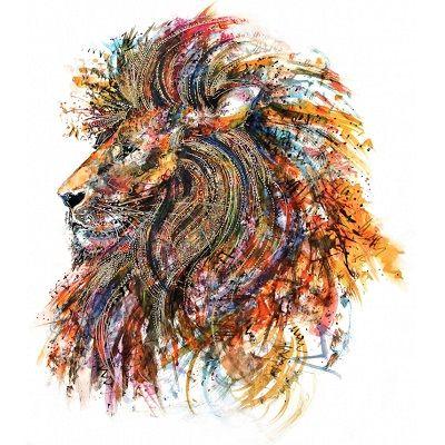 mandalas de leones coloreados