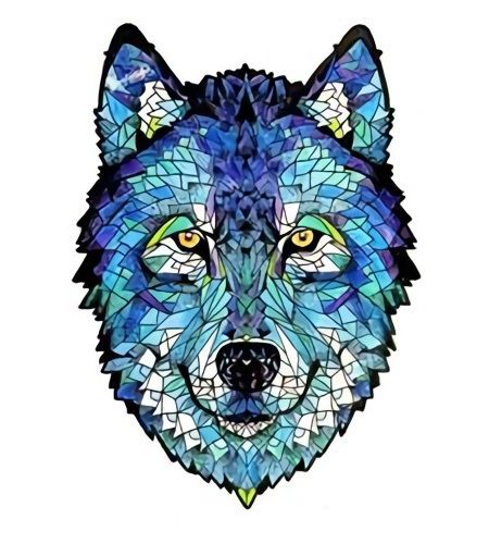 mandalas de lobos coloreados