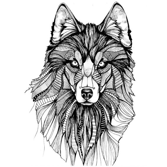 mandalas de lobos dificiles