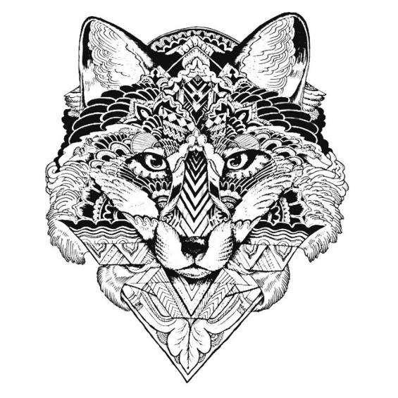 mandalas de lobos para imprimir y pintar