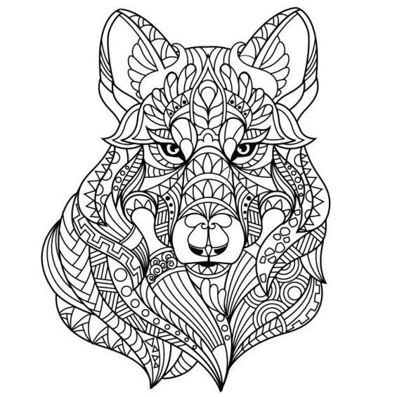 mandalas de lobos para imprimir