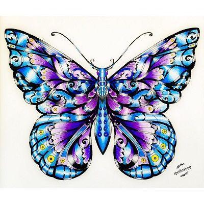 mandalas de mariposas pintadas