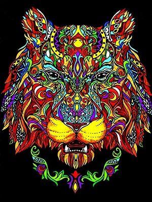 mandalas de tigres a color