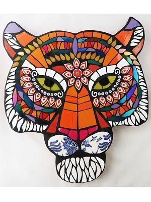 mandalas de tigres coloreados