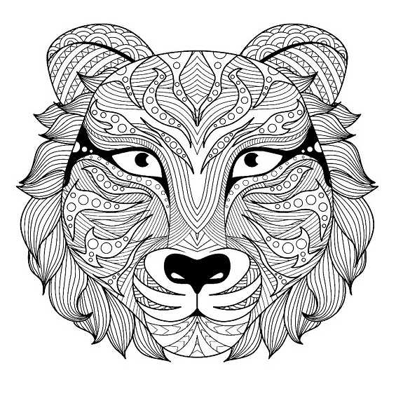mandalas de tigres faciles