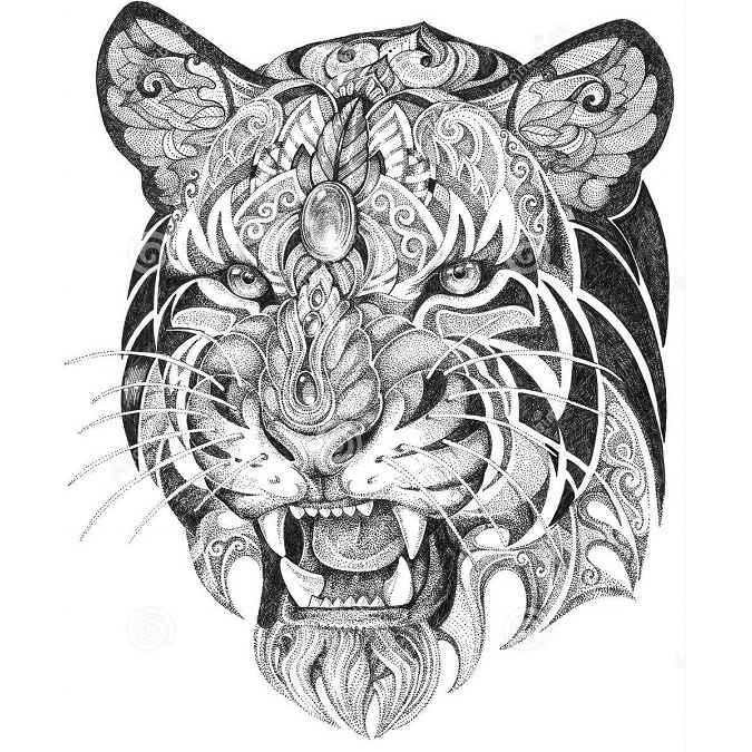 mandalas de tigres para imprimir