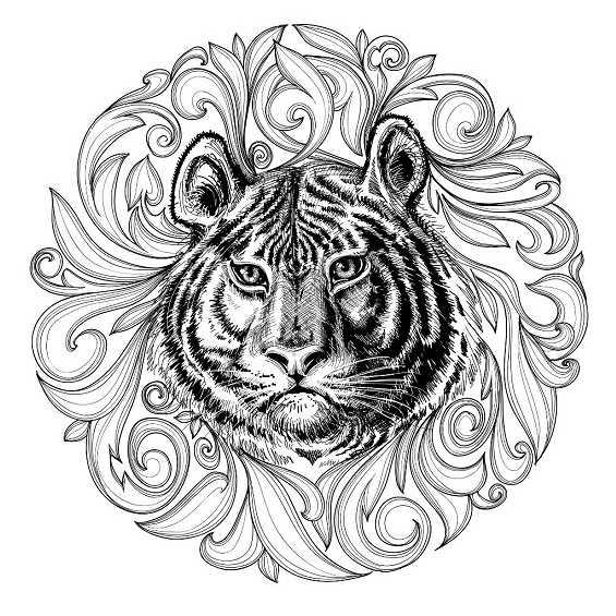 mandalas de tigres para niños