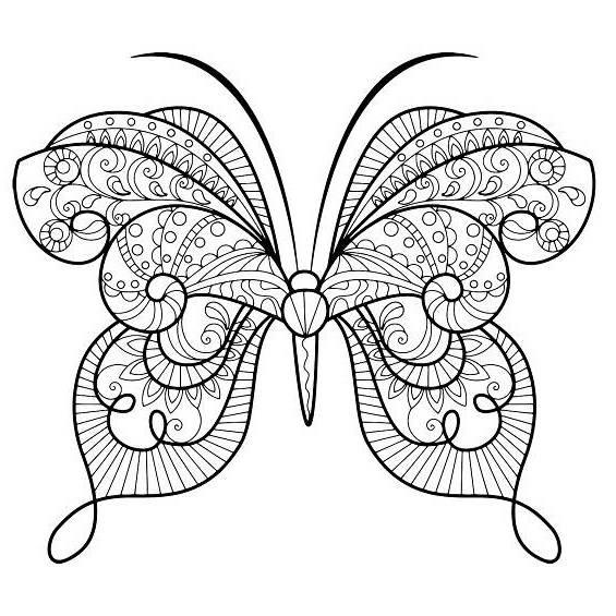 mariposa mandala para colorear e imprimir