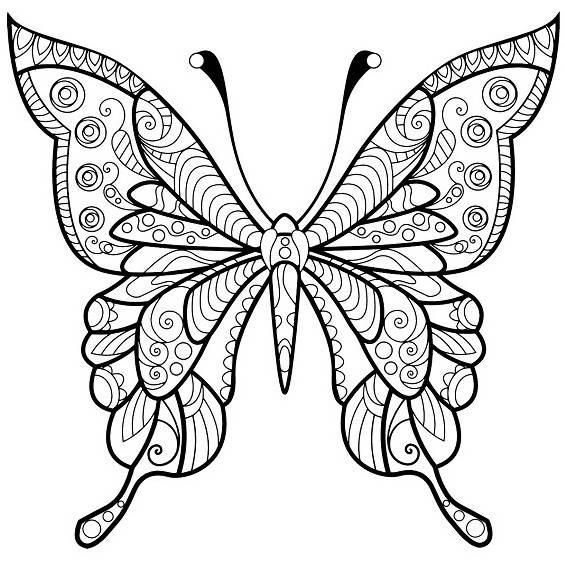 mariposas mandalas para colorear e imprimir