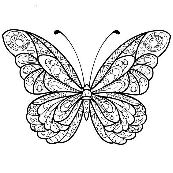 mariposas mandalas para colorear