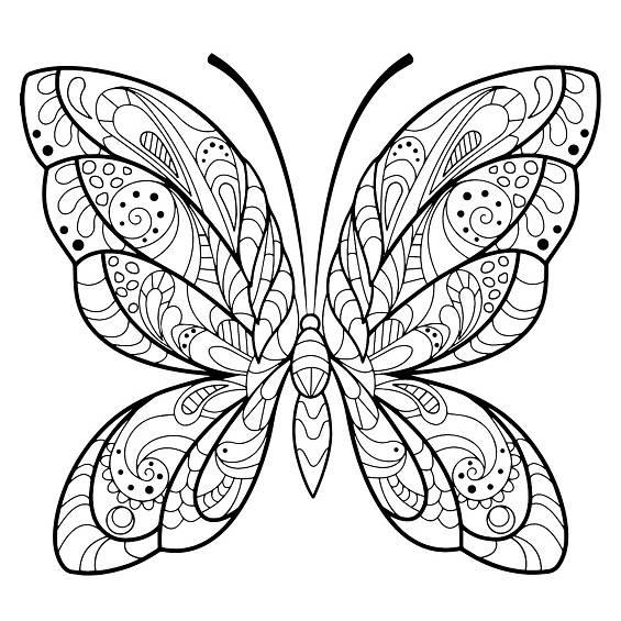 mariposas mandalas para pintar