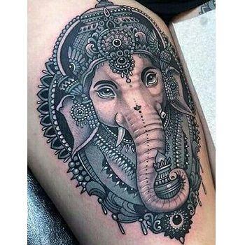 significado tattoo elefante mandala