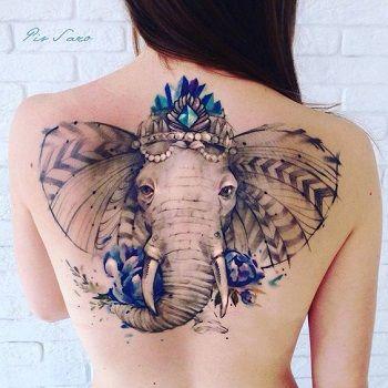 tatuaje elefante mandala