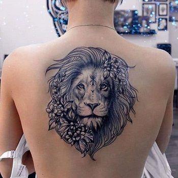 tatuaje leon mandala
