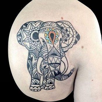 tatuajes elefante mandala