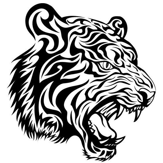 tigre mandala para imprimir
