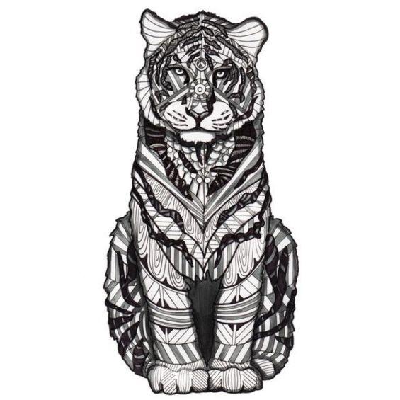 tigre mandala para pintar