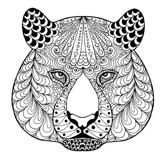 tigres mandalas para imprimir