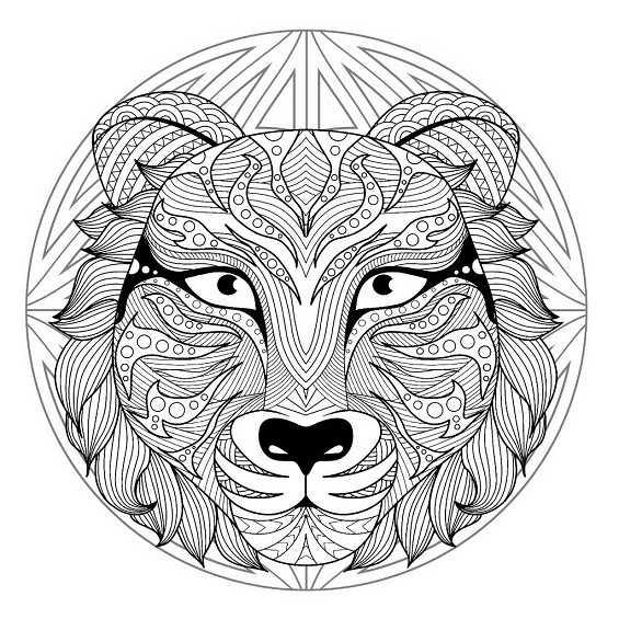 un tigre mandala