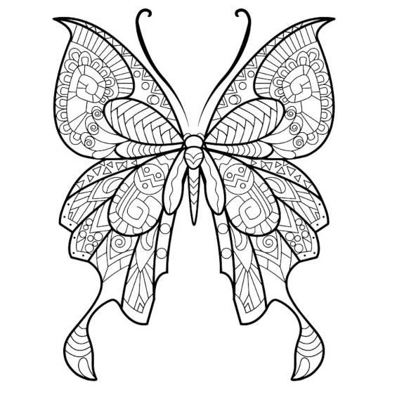 una mariposa mandala para imprimir