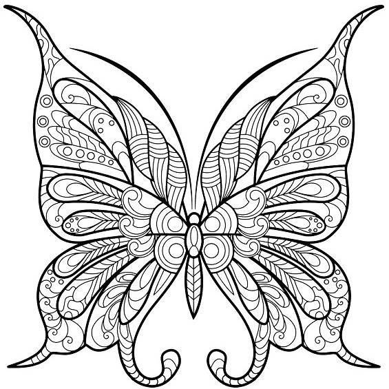 una mariposa mandala para pintar