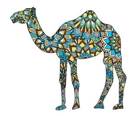 Dibujos de camellos a color