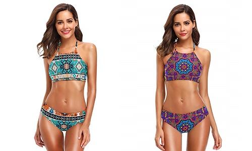 Luce en la playa y la piscina tu bikini mandala más colorido y original