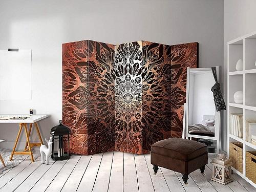 Los biombos mandalas pueden ser parte de la decoración