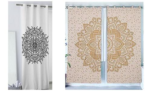 ¡Es hora de cambiar! Las cortinas con mandalas más coloridas para el salón, dormitorio, baño y ducha.