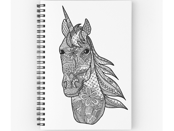 Descubre los libros con mandalas de unicornios