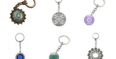 ¡Dale un poco de colorido a tu manojo de llaves! Llaveros mandalas clásicos y giratorios.