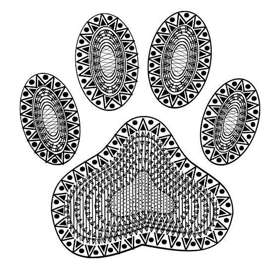 huella de perro mandala