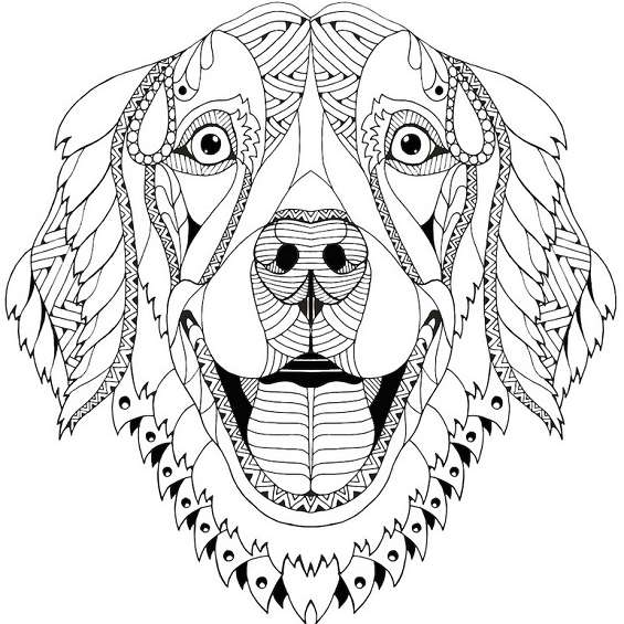 mandala de perro para imprimir