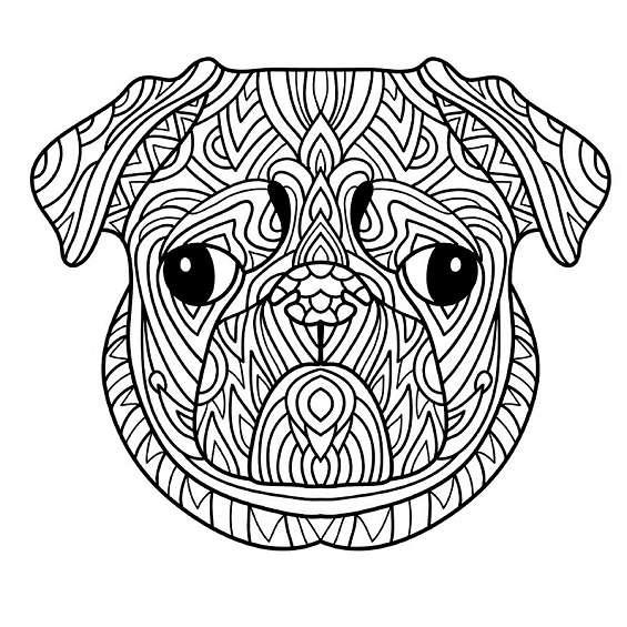 mandala de perros para imprimir