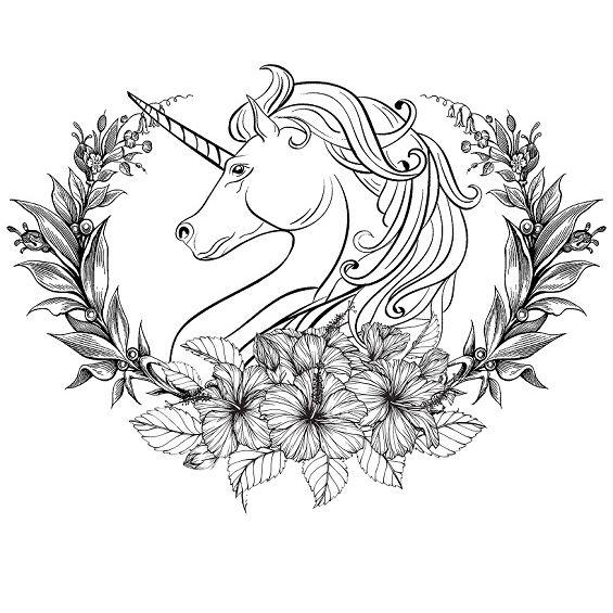 mandala de unicornio facil
